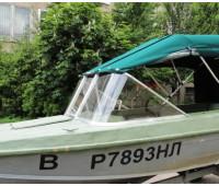 Стекло на лодку Казанка 5м2, 5м3, 5м4 с рамкой удлиненная боковина