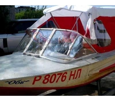 Стекло на лодку Обь-1 с рамкой