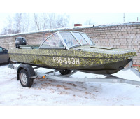 Стекло на лодку Обь-3 с рамкой