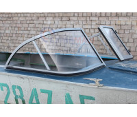 Стекло на лодку Прогресс-4  с рамкой