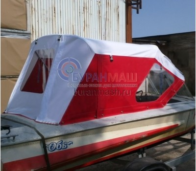 Тент ходовой и дуги на лодку Обь-1