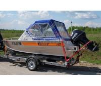 Тент ходовой и дуги на лодку Wellboat 45 (Вельбот 45)