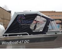 Тент ходовой и дуги на лодку Windboat-47 DC (Виндбот 47 ДС)