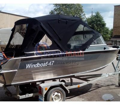 Тент ходовой и дуги на лодку Windboat-47 (Виндбот 47)